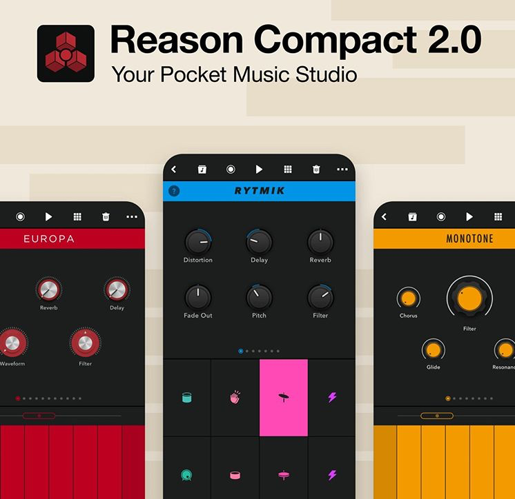 Reason Compact 2.0 for iPhone og iPad