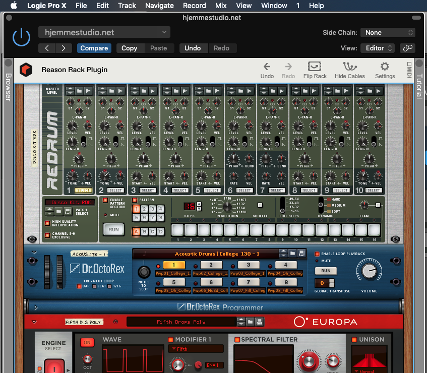 Reason Rack Plugin i AU format